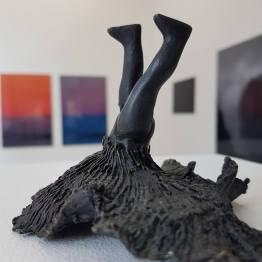 Alannah Robins. Reflex, bronze sculpture. 8.5 × 12.5 × 10 cm. Unique.