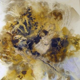 Woman Underwater III. Oil on canvas. 100 x 100 cm.