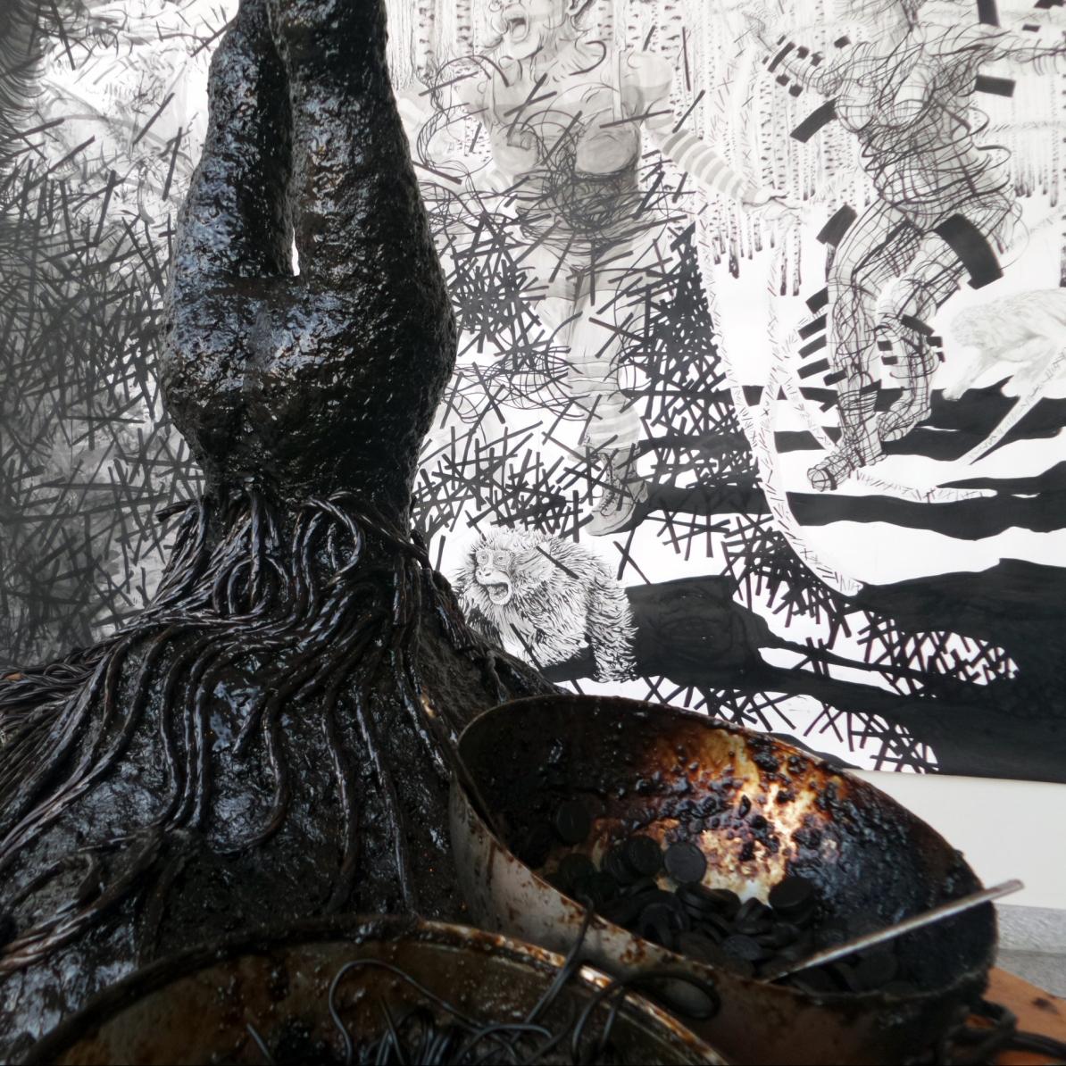 Alannah Robins A sculpture in liquorice Galleri Duerr Lydmar Stockholm