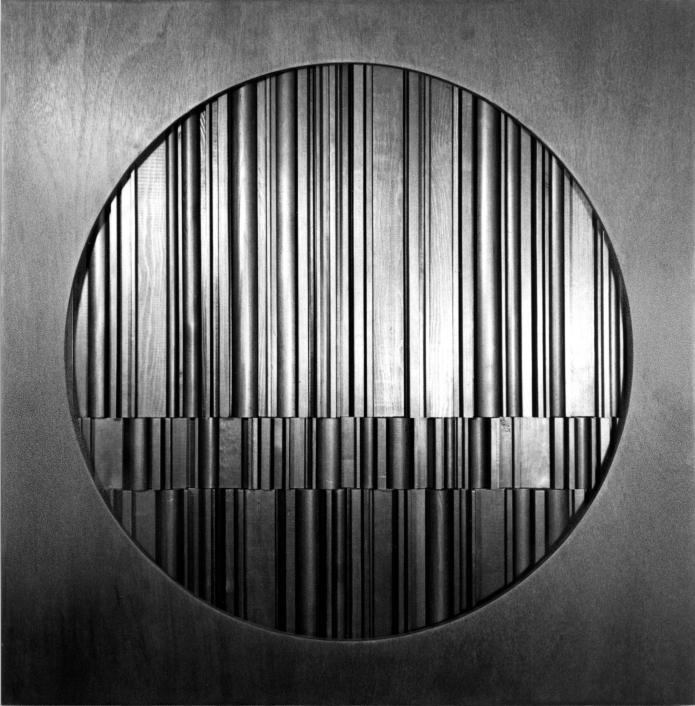 WP_Galleri Duerr_David Eisenhauer_Meditation nr 1_sculpture in stained wood_89x89x15cm_