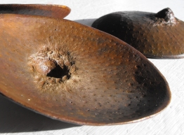 Drink this Cup. Bronze sculptures, 3 pieces. Natural size. Unicum