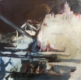 Shipwreck II, 2015. Oil on canvas. 50 × 50 cm.