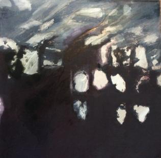 Shipwreck III, 2015. Oil on canvas. 50 × 50 cm.