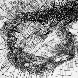 Galleri-Duerr_Matt-Miley_Migration2-Mesecephalon-Trickster_Ink on Drafting Film_40x40_WEB