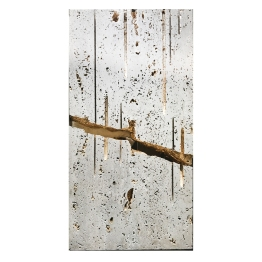 Floating Marble. Nature is Perfect series. 81 cm x 32 cm x 8 cm. Walnut travertine, gold leaf. € 7 000