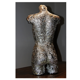 Scorched Metal Venus. Human Resistance series. 170 cm x 60 cm x 40 cm. Painted melted metal. € 8 000