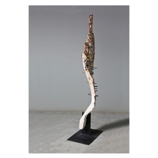 San Sebastian. Nature is Perfect series.170 cm x 40 cm x 25 cm. Botticino marble and plasma-cut wrought iron. €17 000